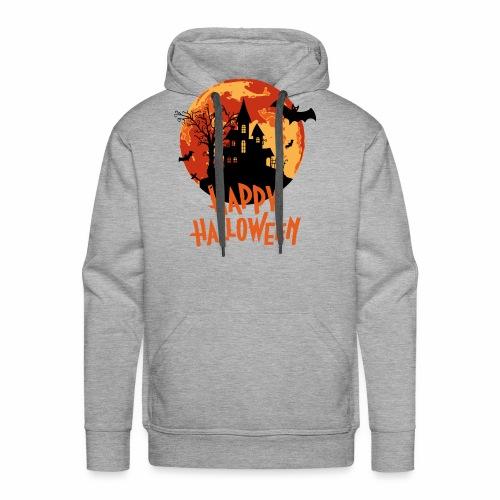 Bloodmoon Haunted House Halloween Design - Männer Premium Hoodie