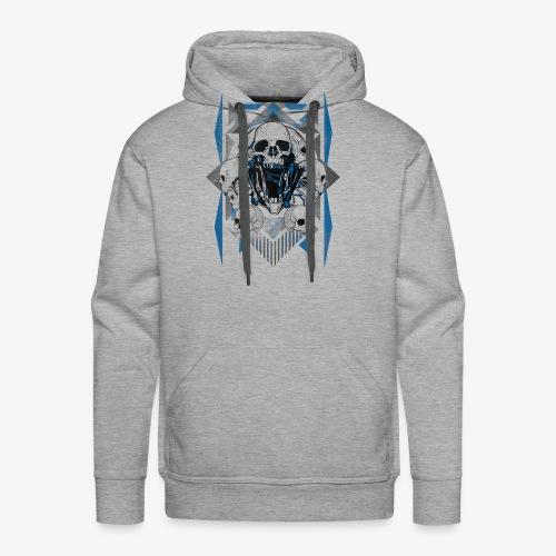 T-shirt de crâne Jual Kaos Hipster - Sweat-shirt à capuche Premium pour hommes