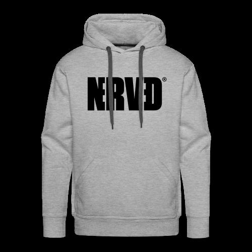 Official Nerved® Logo Black - Men's Premium Hoodie