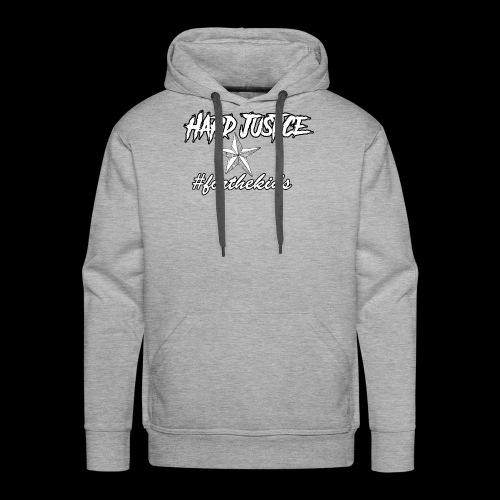 Hard Justice #ftk White - Men's Premium Hoodie