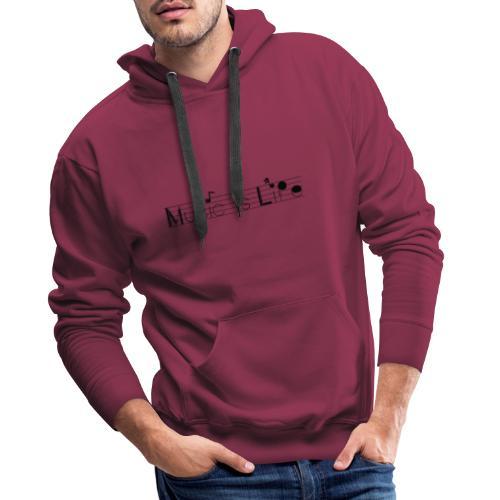 music is life - Sweat-shirt à capuche Premium pour hommes