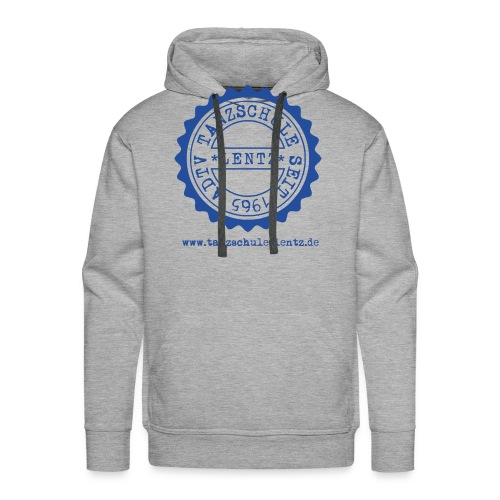 Lentz Wappen Logo Blau - Männer Premium Hoodie