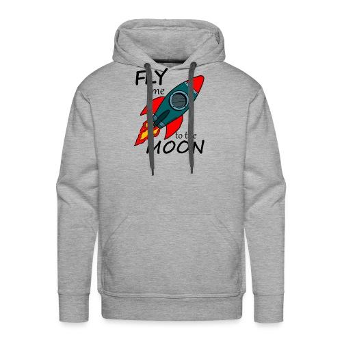 Fly me to the moon - Sudadera con capucha premium para hombre