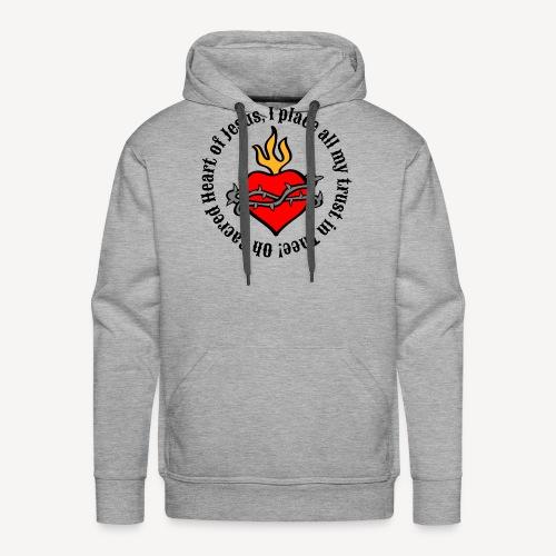 Oh Sacred Heart of Jesus... - Men's Premium Hoodie
