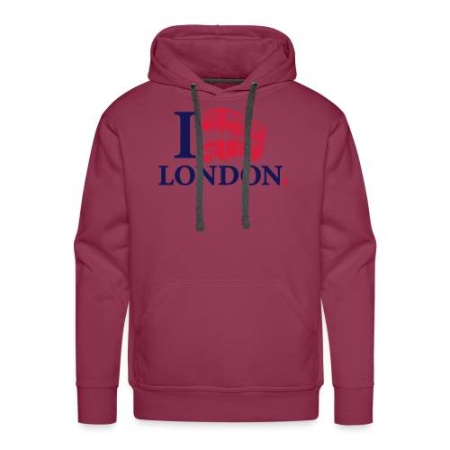 I love (Double-decker bus) London - Men's Premium Hoodie