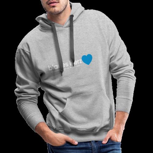 blaues Herz - Männer Premium Hoodie