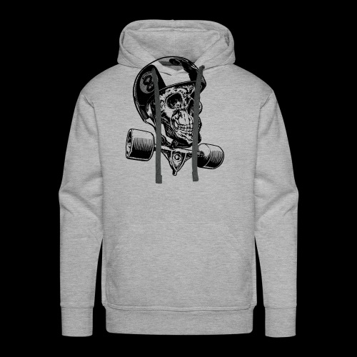 Skull Longboard Rider - positive print - Sweat-shirt à capuche Premium pour hommes