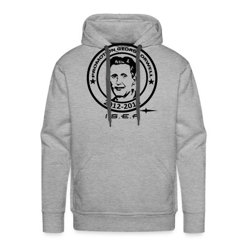George Orwell Vector Patter - Sweat-shirt à capuche Premium pour hommes