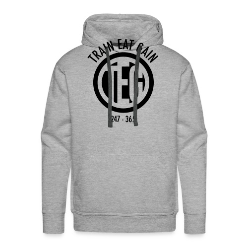 Train Eat Gain Circle - Men's Premium Hoodie