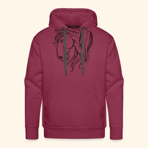 Cheval espagnol (noir) - Sweat-shirt à capuche Premium pour hommes