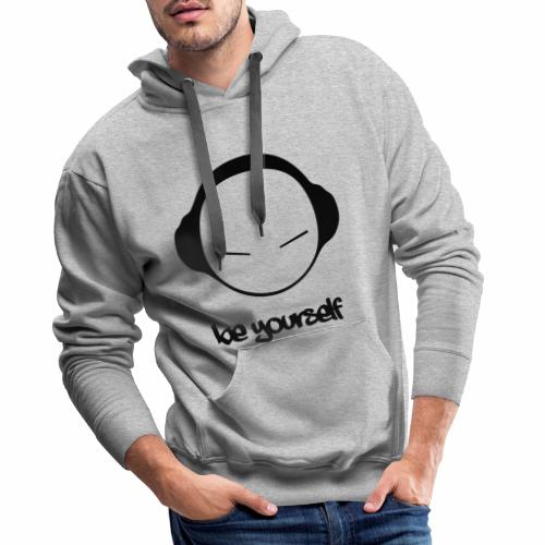Be yourself - Sweat-shirt à capuche Premium pour hommes