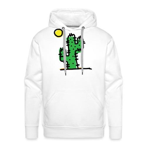 Cactus single - Felpa con cappuccio premium da uomo