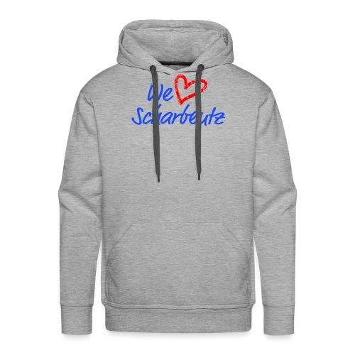 We love Scharbeutz - Logo blau/rot - Männer Premium Hoodie