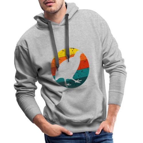 Retro Wachtel Geschenkidee Design Wachteln Logo - Männer Premium Hoodie