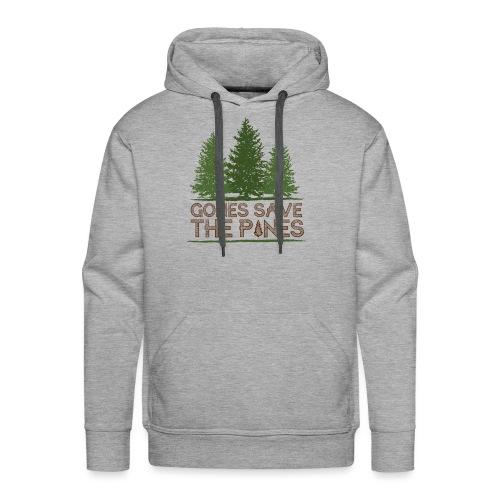 Gones save the pines - Sweat-shirt à capuche Premium pour hommes