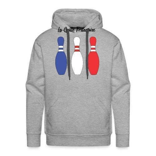 Les Quilles Françaises - Sweat-shirt à capuche Premium pour hommes