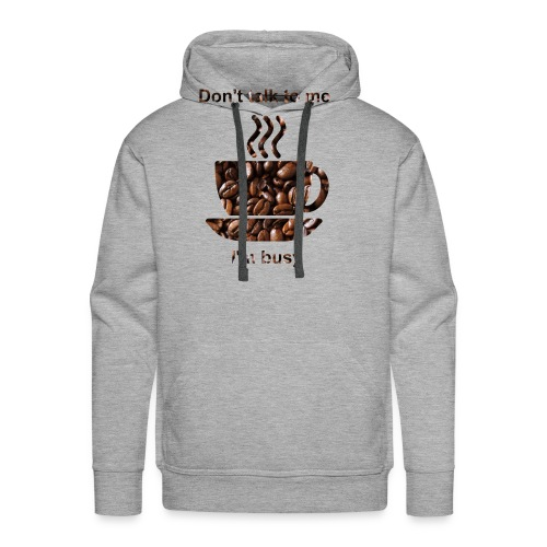 kahvi - Miesten premium-huppari