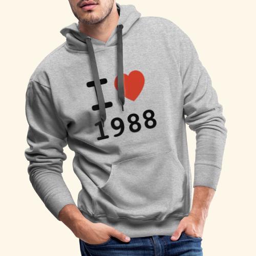 I Love 88 b 001 - Männer Premium Hoodie