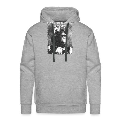 Funny Chimpanzee Old Age Joke Design - Men's Premium Hoodie