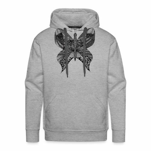 Schmetterling Doodle - Männer Premium Hoodie
