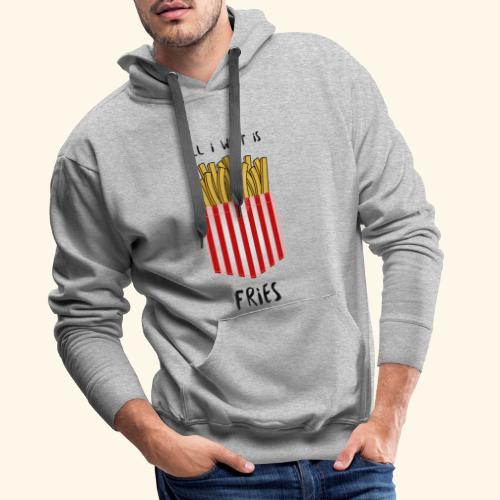 fries in pocket - Männer Premium Hoodie