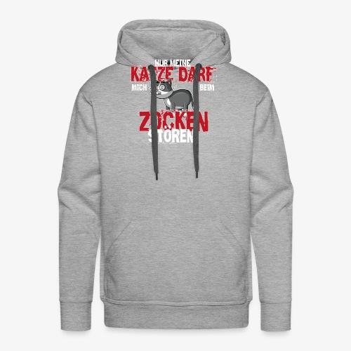 Gamer T-Shirt Katze zocken Gaming - Männer Premium Hoodie