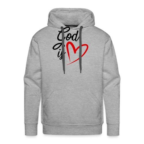 God is love 2N - Felpa con cappuccio premium da uomo