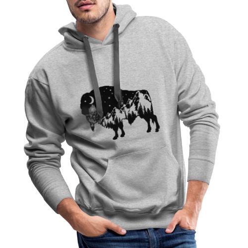 Die wilde Natur im Bison - Männer Premium Hoodie