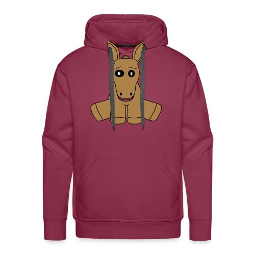 horse - Felpa con cappuccio premium da uomo