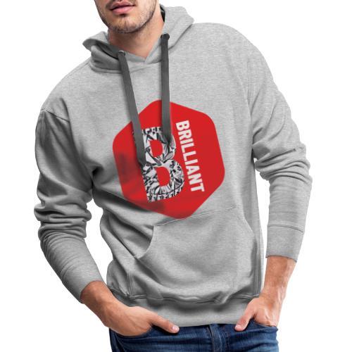B brilliant red - Mannen Premium hoodie