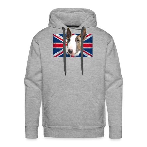 Bullterrier UK grunge Flag - Männer Premium Hoodie