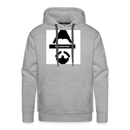Biturzartmon Logo schwarz/weiss asiatisch - Männer Premium Hoodie