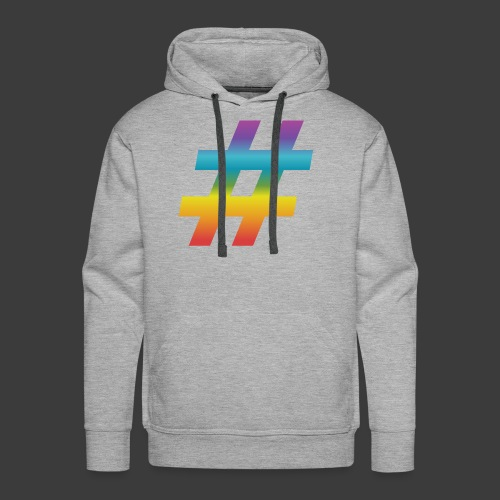 rainbow hash include - Men's Premium Hoodie