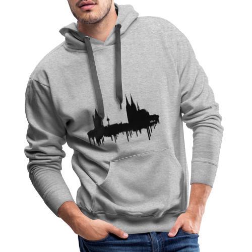 Skyline Köln - Schwarz - Männer Premium Hoodie