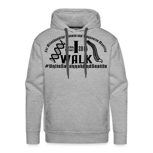 i walk vect - Men's Premium Hoodie