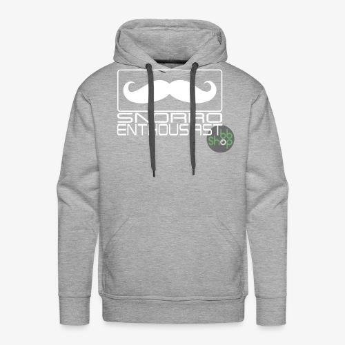 Snorro enthusiastic (white) - Men's Premium Hoodie