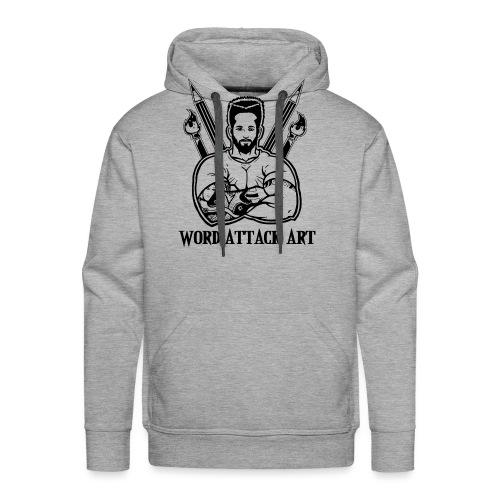 Word Attack Art - Männer Premium Hoodie