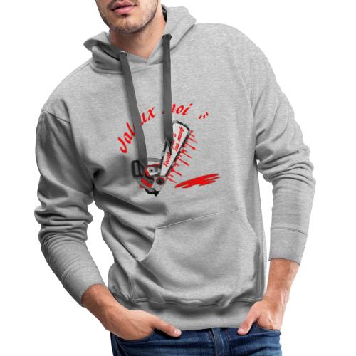 t shirt jaloux moi amour possessif humour - Sweat-shirt à capuche Premium pour hommes