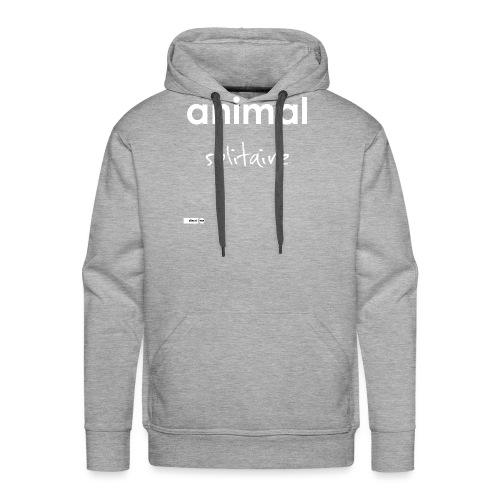 animal solitaire - Sweat-shirt à capuche Premium pour hommes