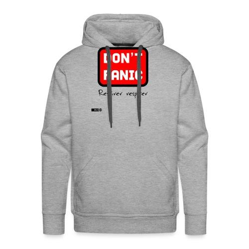 don't panic, respirer - Sweat-shirt à capuche Premium pour hommes