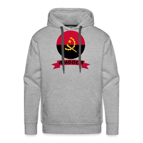 flag of Angola t shirt design ribbon banner - Felpa con cappuccio premium da uomo