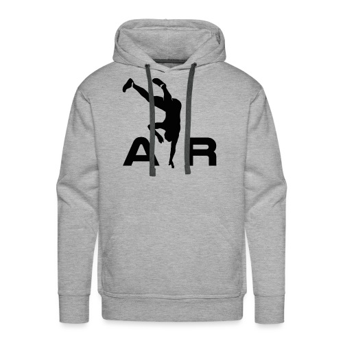 logo AiR6Team noir - Sweat-shirt à capuche Premium pour hommes