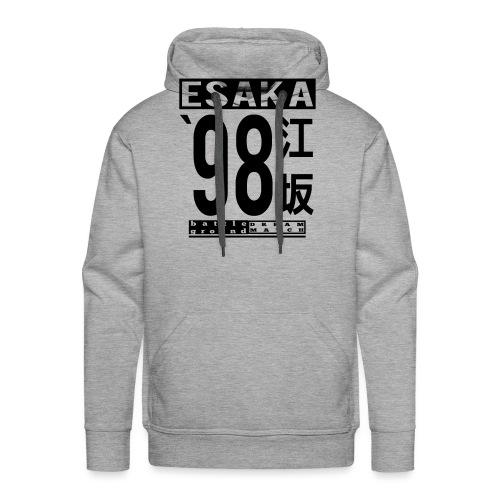 Nouveau! Esaka 98 Blanche - Sweat-shirt à capuche Premium pour hommes