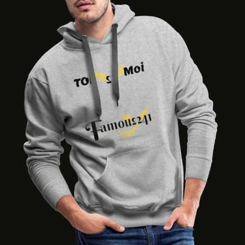 toi💖moi by famous241 - Sweat-shirt à capuche Premium pour hommes