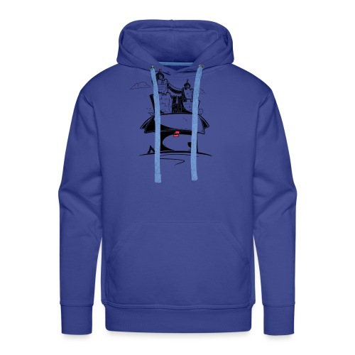 Monde en carton - Sweat-shirt à capuche Premium pour hommes