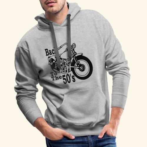 Back to the 50's - Sweat-shirt à capuche Premium pour hommes