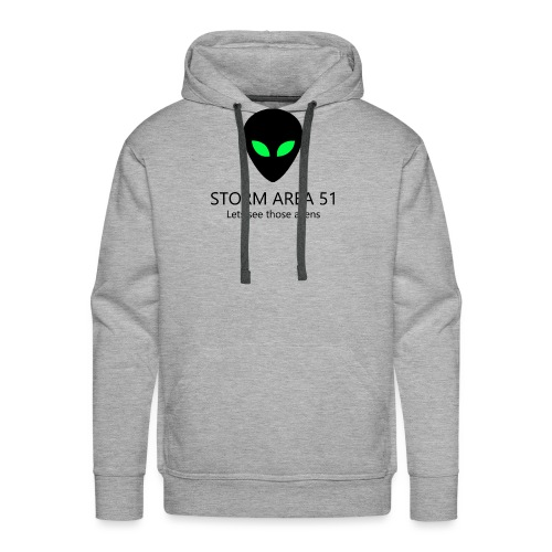 Storm area 51, let's see those aliens - Men's Premium Hoodie