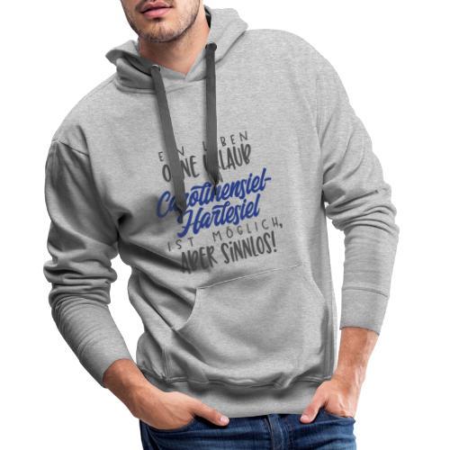 Ein Leben ohne Urlaub (blau) - Männer Premium Hoodie