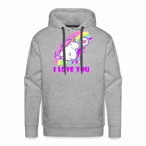 unicorn_love - Männer Premium Hoodie