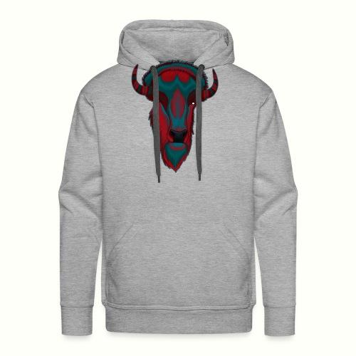 Bison - Red & BlueGray - Premiumluvtröja herr